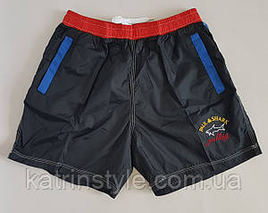 Короткие пляжные мужские шорты с карманами