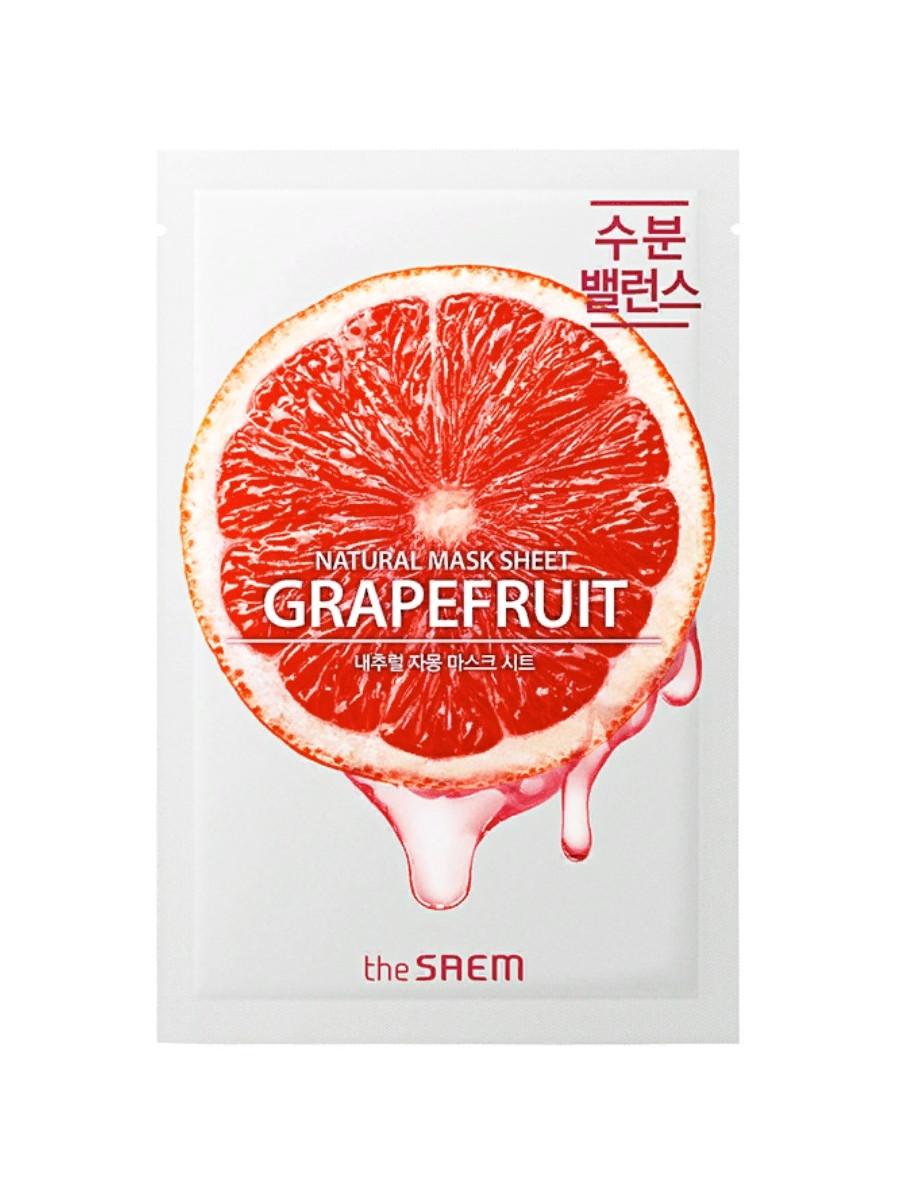 Тканевая маска с экстрактом грейпфрута The Saem Natural Grapefruit Mask Sheet 21 мл (8806164160466)