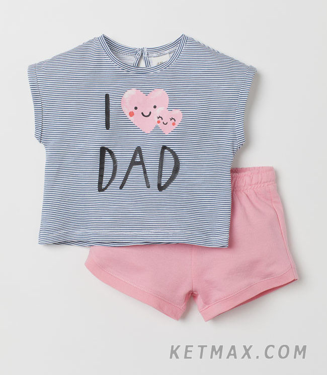 Летний комплект H&M для девочки