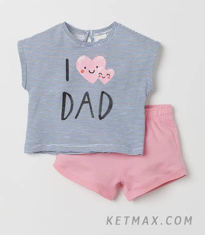 Летний комплект H&M для девочки, фото 2