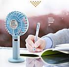 Портативный мини-вентилятор Handy Fan S8 Blue. Ручной вентилятор с аккумулятором S8 Фиолетовый, фото 3