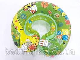 Надувной Круг на Шею для Купания Младенцев Крошка Я с Застежкой