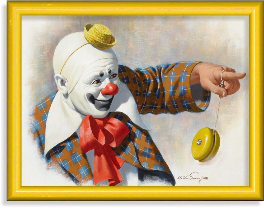 Репродукция  современной картины  «Белый клоун»