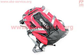 Рюкзак влагозащитный 20 литр.,вентилируемые накладки на спину, светоотражающие полосы, красный COMFORT SBP-059