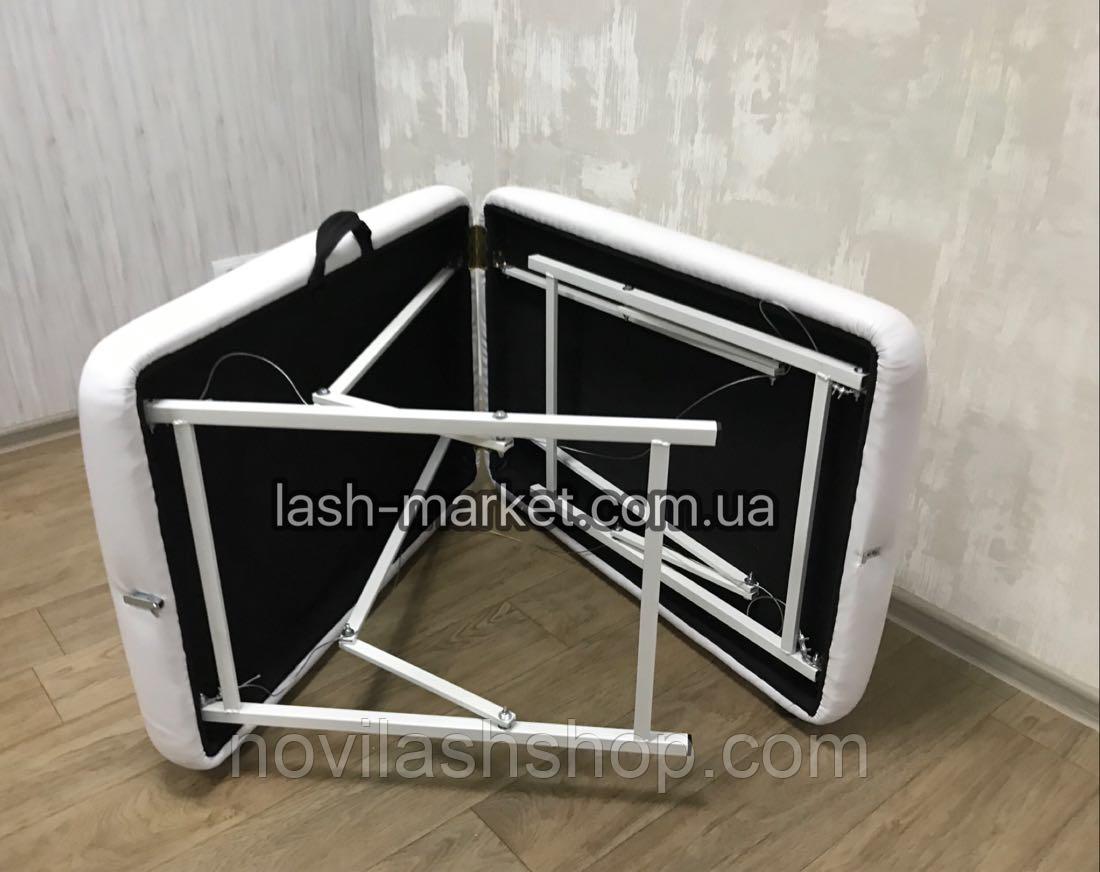 Кушетка для наращивания ресниц/ массажный стол LASH STAR MINI - белый цвет