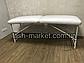Кушетка для наращивания ресниц/ массажный стол LASH STAR MINI - белый цвет, фото 4