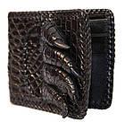 Кошелек мужской из кожи крокодила 11x9,5 см, фото 2