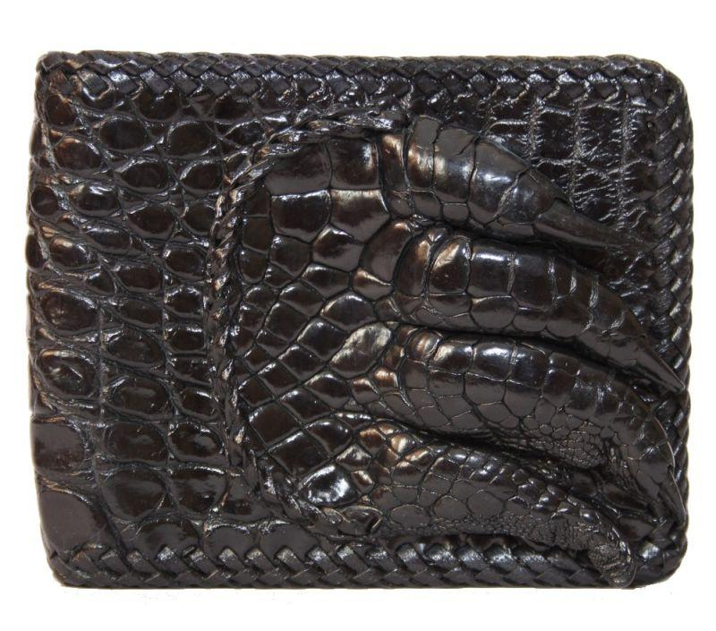 Кошелек мужской из кожи крокодила 11x9,5 см