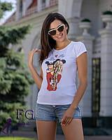 Стильна футболка з малюнком 029 В, фото 1