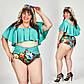 """Женский стильный раздельный купальник в больших размерах 0043""""Цветы Пелеринка"""" в расцветках, фото 2"""