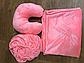 Набор 3в1: чехол на кушетку, плед, подушка (персик), фото 2