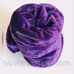 Фиолетовый NEW чехол на кушетку махра (на кушетку 70/190)
