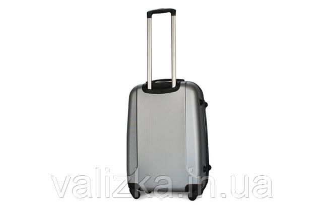 Средний пластиковый чемодан Fly  310 серебро, фото 2