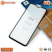 Защитное Full Glue стекло Mocolo OnePlus 7 (Black) - 5D Полная поклейка