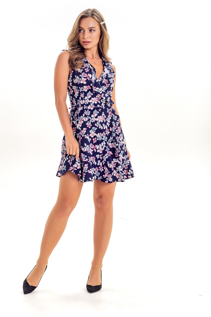 Платье 523 K&ML  синий 46
