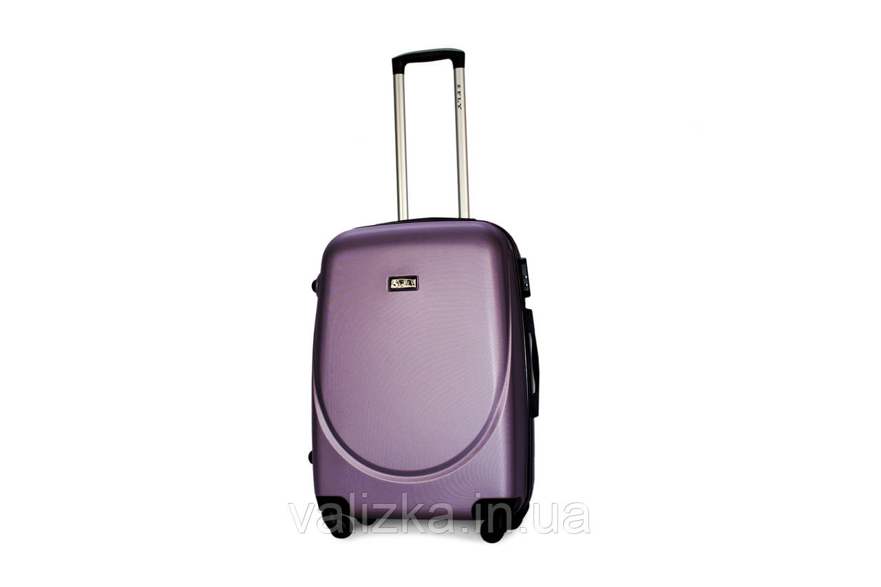 Средний пластиковый чемодан Fly  310 фиолетовый