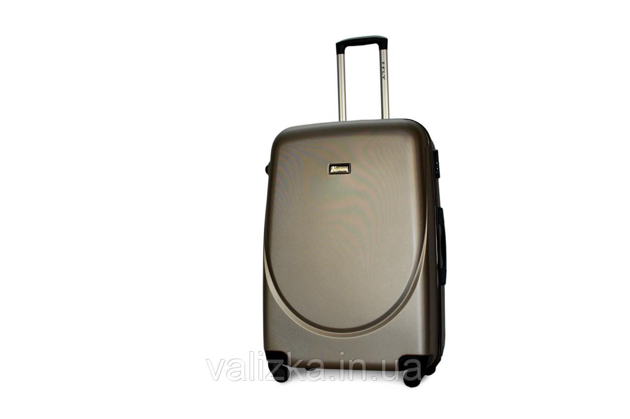 Большой пластиковый чемодан Fly 310 шампань