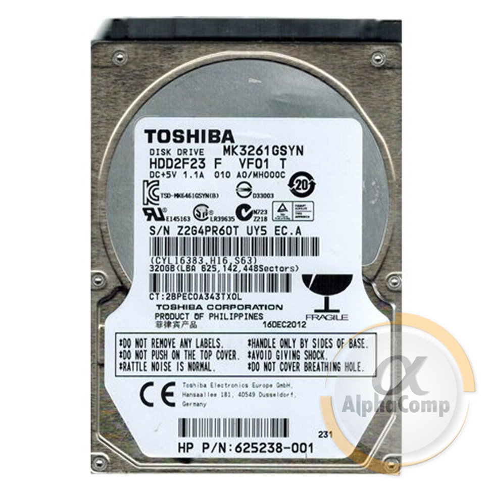 "Жесткий диск 2.5"" 320Gb Toshiba MK3261GSYN (16Mb/7200/SATAII) БУ"