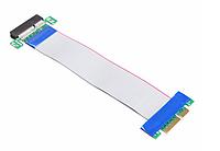 Райзер Riser PCI-E 4x to 4x удлинитель шлейф, фото 1