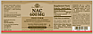 Solgar NAC 600 mg 120 капсул (Солгар НАК 600мкг) Н-Ацетилцистеин, N-ацетил-L-цистеин (NAC), фото 3