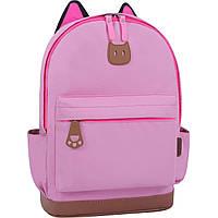 Рюкзак городской Bagland Ears с ушками для девочек женский цвет розовый