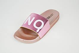 Шлепанцы розовые женские с надписью YES NO JBP 0045