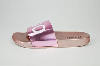 Шлепанцы розовые женские с надписью YES NO JBP 0045, фото 2