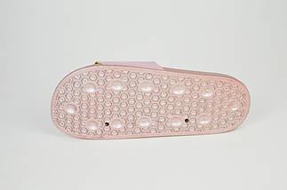 Шлепанцы розовые женские с надписью YES NO JBP 0045, фото 3