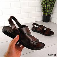 """Босоножки мужские, коричневые """"Aters"""" эко кожа, сандалии мужские, обувь летняя мужская"""