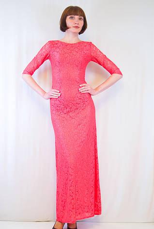 Шикарное нарядное утонченное красивое длинное гипюровое облегающее платье 42 44 46 48 50, фото 2