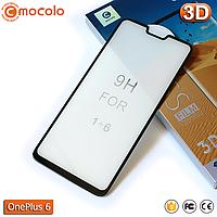 Защитное Full Glue стекло Mocolo OnePlus 6 (Black) - 5D Полная поклейка