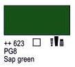 Краска акриловая AMSTERDAM, 20мл (623) Сочный зеленый, Royal Talens,  17046230,  8712079342975