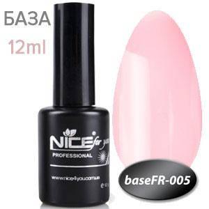 NICE База камуфляж Base FR-005 12ml розово натуральный френч, фото 2