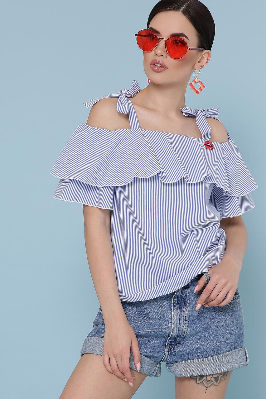 Модная летняя блуза в полоску Размеры S, M, L, XL