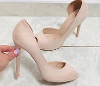 Женские туфли с вырезом,открытым носиком,, фото 1