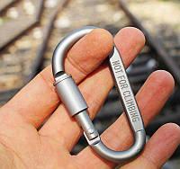 Алюминиевый карабин D-Ring, фото 1