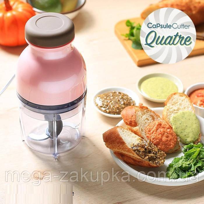 Измельчитель чоппер блендер Capsule Cutter Quatre (стеклянная чаша)
