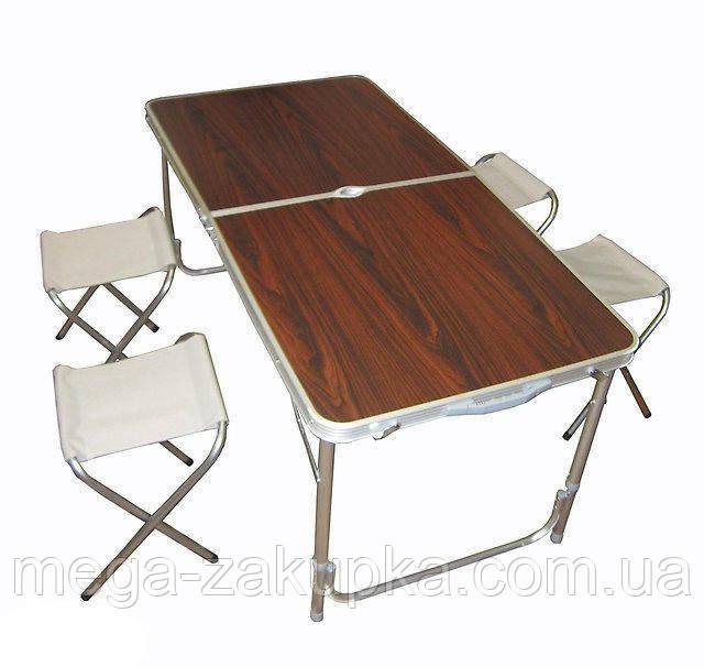 Стол туристический +4 стула