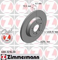 Диск тормозной задний Zimmermann 600.3216.20