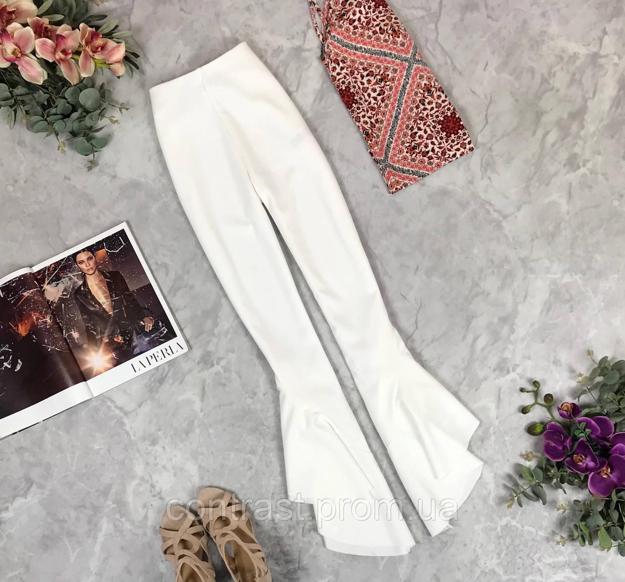 Трендовые брюки белого цвета  PN1926092