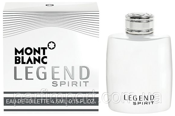 MONT BLANC LEGEND SPIRIT EDT 4.5 ml туалетная вода мужская (оригинал подлинник  Франция)