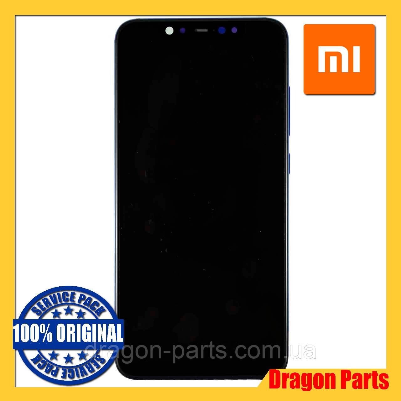 Дисплей Xiaomi Mi 8 с сенсором (тачскрином) и рамкой синий, оригинал 561010006033