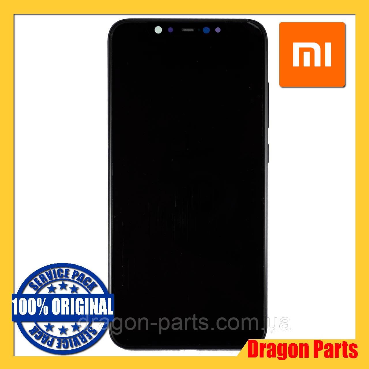 Дисплей Xiaomi Mi 8 з сенсором (тачскрін) і рамкою чорний, оригінал 5606100400B6