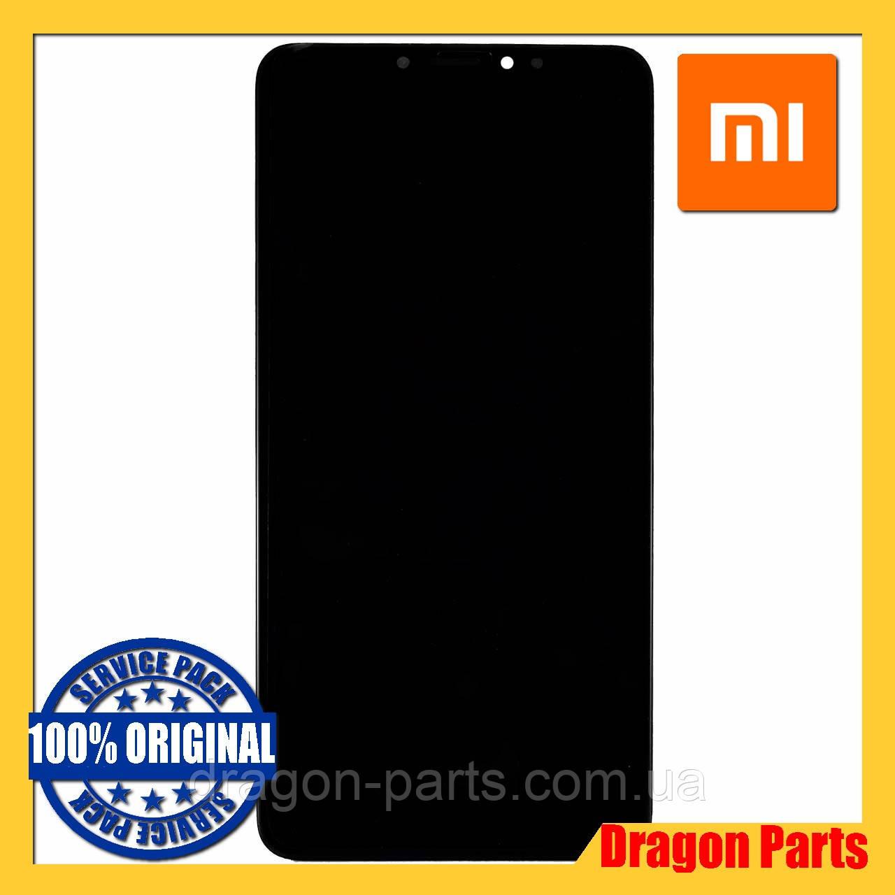 Дисплей Xiaomi Mi Max 3 с сенсором (тачскрином) и рамкой черный, оригинал 560610042033