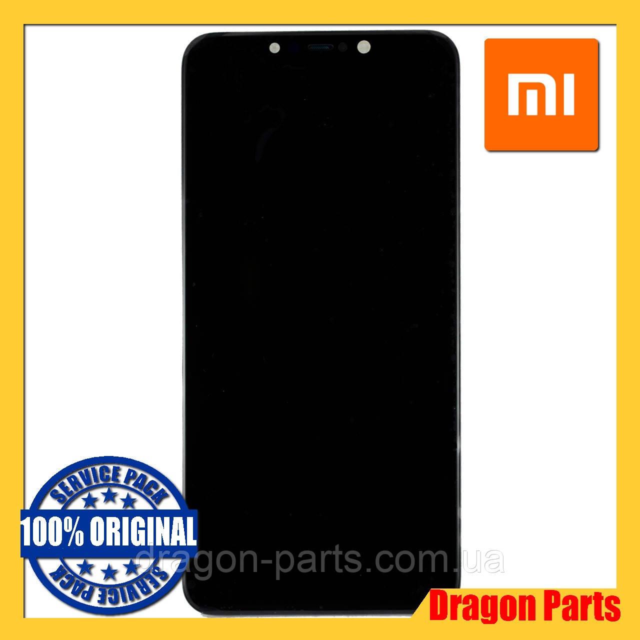 Дисплей Xiaomi Pocophone F1 с сенсором (тачскрином) и рамкой черный, оригинал 560610057033