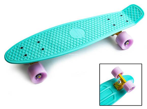 """Penny Board """"Pastel Series"""" Бирюзовый цвет. Матовые колеса., фото 2"""