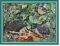 Репродукция  современной картины  «Ёжики встретились» 30 x 40 cm