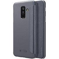 Кожаный чехол (книжка) Nillkin Sparkle Series для Samsung Galaxy A6 (2018)