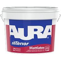 Интерьерная моющаяся краска AURA Mattlatex  TR   9л (Україна) прозрачная(под колеровку)