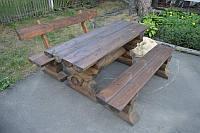 Комплект мебели из оцилиндрованного бревна №1